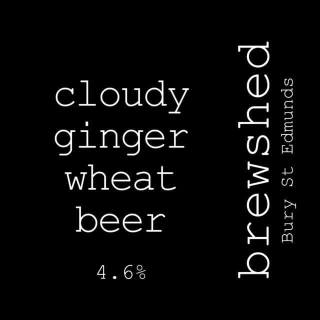cloudy ginger wheat beer 4.6%